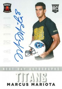 2015 Panini Prestige Football Next Day Signatures Mariota
