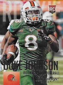 2015 Prestige Football Base RC 235 Duke Johnson