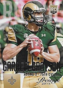 2015 Prestige Football Base RC 240 Garrett Grayson
