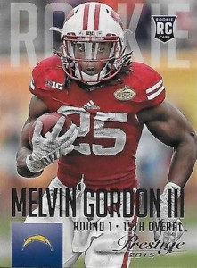 2015 Prestige Football Base RC 269 Melvin Gordon