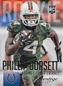 2015 Prestige Football Base RC 276 Phillip Dorsett