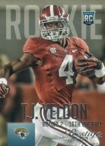 2015 Prestige Football Base RC 287 T.J. Yeldon