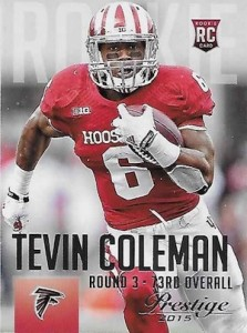 2015 Prestige Football Base RC 289 Tevin Coleman