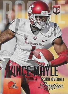 2015 Prestige Football Base RC 300 Vince Mayle