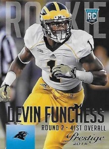 2015 Prestige Football Base RC Devin Funchess