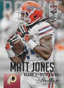 2015 Prestige Football Base RC Matt Jones