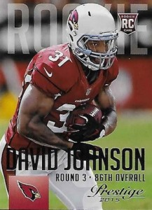 2015 Prestige Football Variation 225 David Johnson