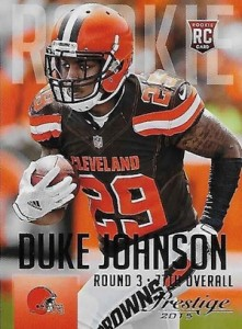 2015 Prestige Football Variation RC 235 Duke Johnson