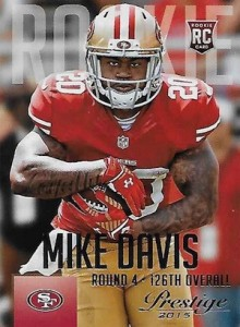 2015 Prestige Football Variation RC 271 Mike Davis