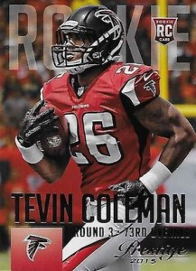 2015 Prestige Football Variation RC 289 Tevin Coleman