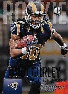 2015 Prestige Football Variation RC 291 Todd Gurley