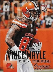 2015 Prestige Football Variation RC 300 Vince Mayle