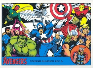 2015 Rittenhouse Avengers Silver Age Promo 1