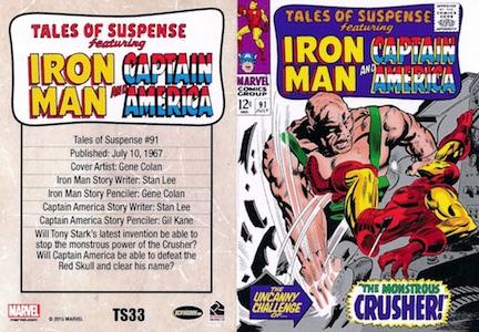 2015 Rittenhouse Avengers Silver Age Tales of Suspense