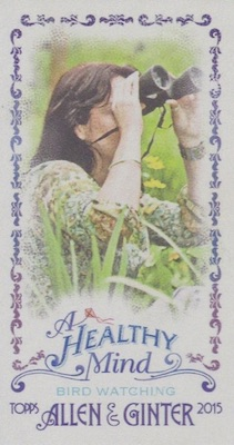 Unannounced 2015 Topps Allen & Ginter Mini Inserts Have a Healthy Focus 1