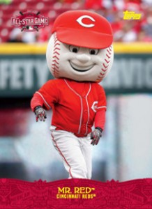 2015 Topps All-Star FanFest Mascot Promo Mr Red