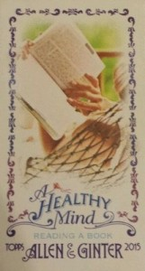2015 Topps Allen & Ginter Baseball A Healthy Mind Reading Book