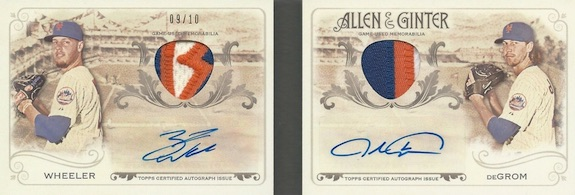 2015 Topps Allen & Ginter Baseball Dual Book