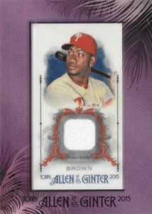 2015 Topps Allen & Ginter Baseball Framed Mini Relic