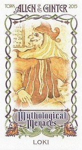 2015 Topps Allen & Ginter Baseball Mythological Menaces Mini