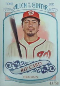 2015 Topps Allen & Ginter Baseball Rip Card