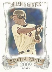 2015 Topps Allen & Ginter Baseball Starting Points