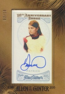 2015 Topps Allen & Ginter Baseball Tenth 10th Anniversary Autographs Danica Patrick