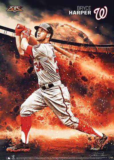 2015 Topps Fire Baseball Prints 1