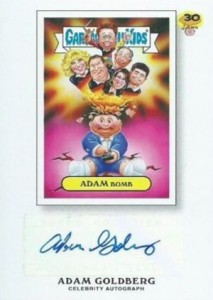 2015 Topps GPK 30th Anniversary Adam Goldberg Autograph
