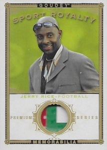 2015 Upper Deck Goodwin Champions Goudey Sports Royalty Memorabilia Jerry Rice