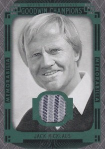 2015 Upper Deck Goodwin Champions Memorabilia Black White Nicklaus