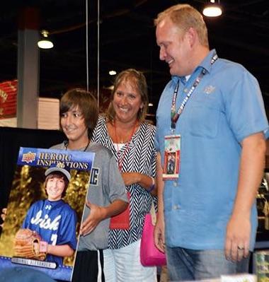 2015 Upper Deck Heroic Inspirations Daniel Alexander Baseball Card Presentation