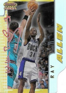 1996-97 Bowmans Best Basketball Picks Refractor Ray Allen