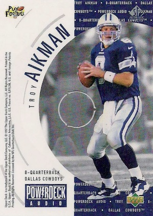 1997 SP Authentic Football PowerDeck Audio Aikman
