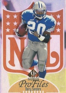 1997 SP Authentic Football ProFiles Barry Sanders