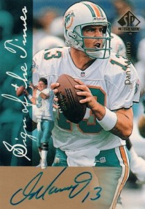 1997 SP Authentic Football Sign of the Times Dan Marino