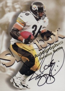 1998 Skybox Autographics Jerome Bettis black ink