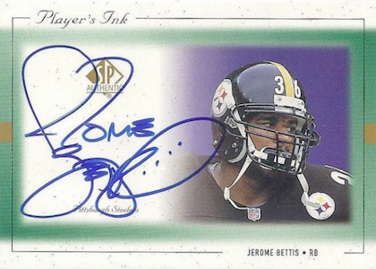1999 Players Ink Green Jerome Bettis