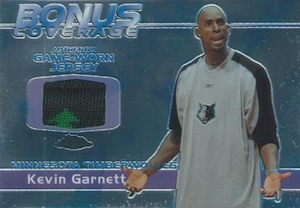 2003-04 Topps Chrome Basketball Bonus Coverage Relics Garnett