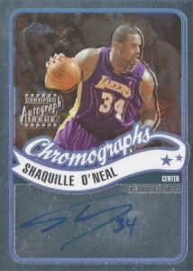 2003-04 Topps Chrome Basketball Chromographs Shaquille ONeal