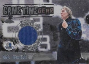 2003-04 Topps Chrome Basketball Game Time Gear Relic Dirk