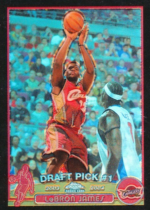 2003-04 Topps Chrome Basketball LeBron James RC Black Refractor
