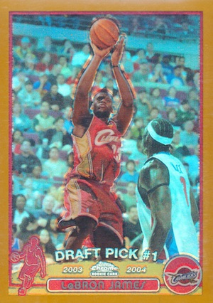 2003-04 Topps Chrome Basketball LeBron James RC Gold Refractor