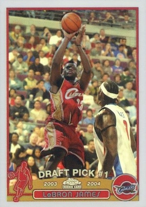 2003-04 Topps Chrome Basketball LeBron James RC Refractor