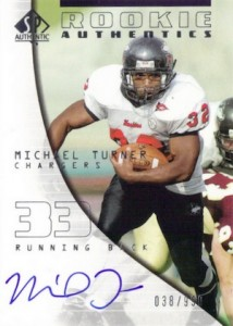 2004 SP Authentic Football Rookie Authentics Autograph RC Michael Turner