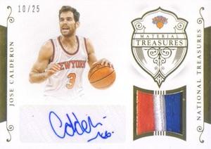 2014-15 Panini National Treasures Basketball Material Signatures