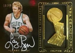 2014-15 Panini National Treasures Basketball NBA Champions Signatures Larry Bird