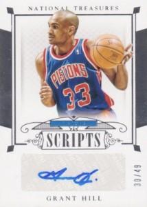 2014-15 Panini National Treasures Basketball Scripts Grant Hill