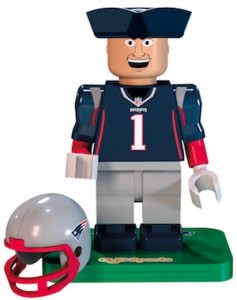 2015 OYO NFL Mascots Football Minifigures Pat Patriot
