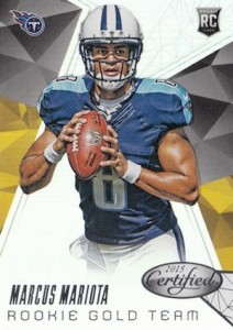 2015 Panini Certified Football Rookie Gold Team Mariota